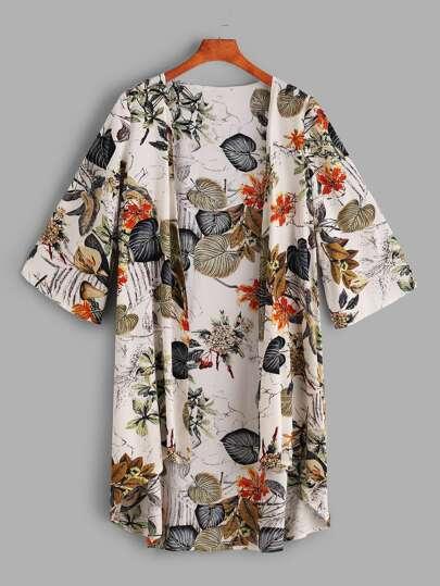 Tropical, impression, plongée, Kimono