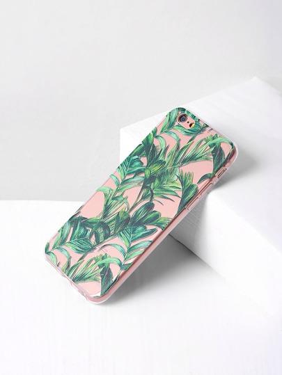 Cover per iphone 6/6s con stampa di foglia - verde