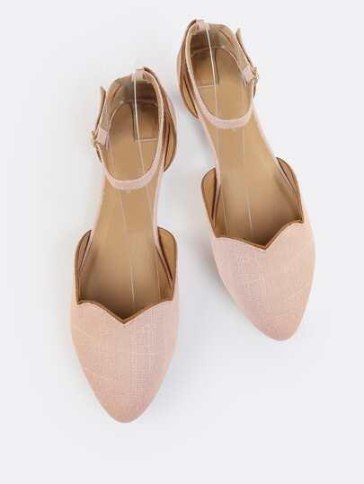 Scallop Ankle Flats BLUSH