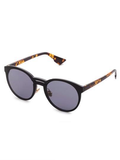 Double Bridge Round Lens Sunglasses