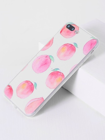 Pink Peach Print iPhone 7plus Case