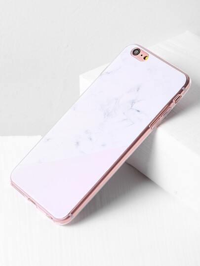 Funda para iPhone 6 Plus/6s Plus minimalismo con estampado de mármol