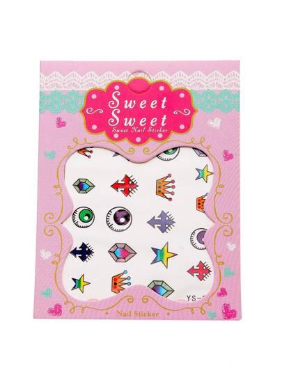 Cute Crown Nail Sticker Set