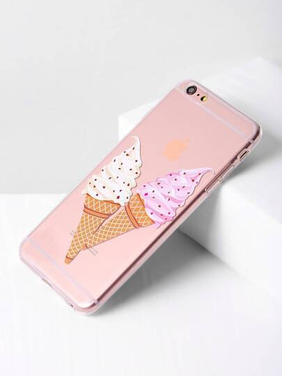 Doppia Ice Cream Stampa Chiaro iPhone 6 Plus / 6s più l'argomento