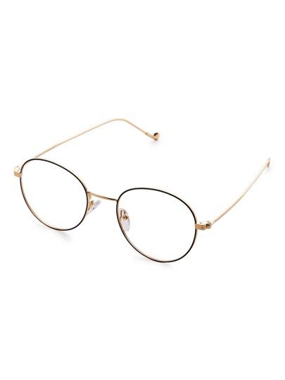 Metal Frame Clear Lens Retro Glasses
