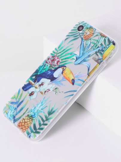 Funda para iphone7 con estampado de cálao tropical