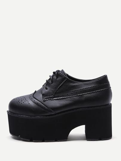 أحذية الدانتيل جلد صنتعي