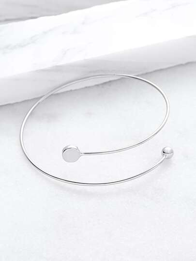 Silver Simple Wrap Bangle