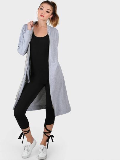 Longline Zip Jacket GREY