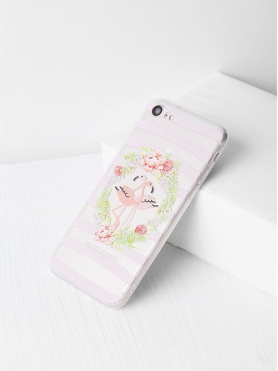 Blumen-und Vogel-Druck-löschen iPhone 7 Fall