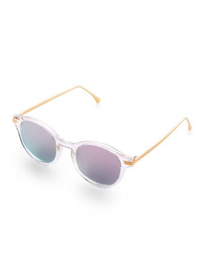Gafas de sol con marco transparente y lentes gris