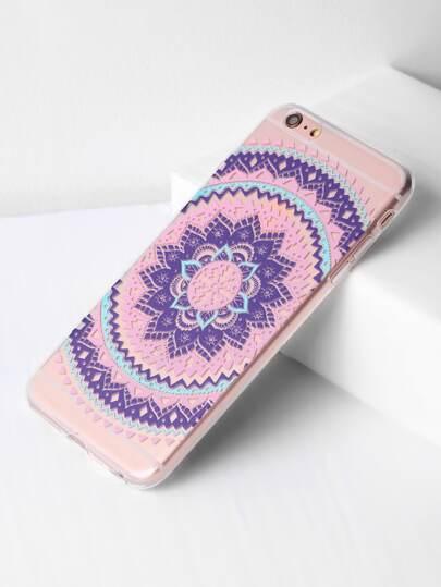 Flower Print Clear iPhone 6 Plus / 6s Plus Kasten