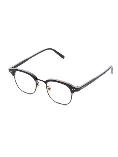 Gafas de sol con marco medio y lentes transparente