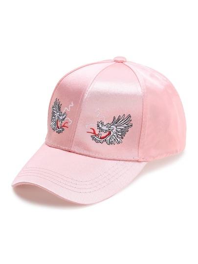 Розовая модная бейсболка с вышивкой