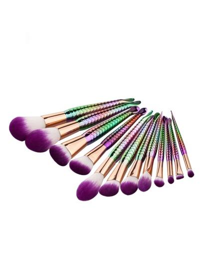 Multicolor Scale Design Maquillage Brosse Set