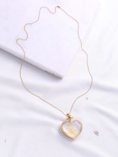 Collana con Pendente Heart Gold