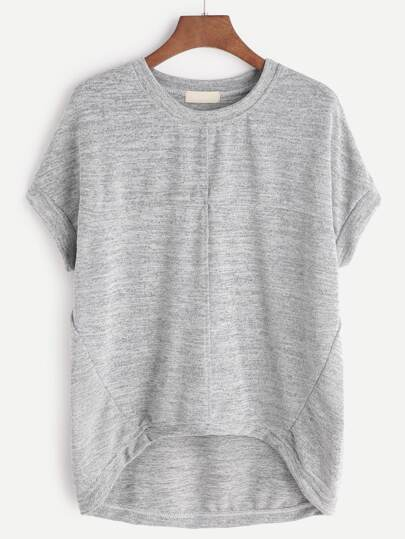 High Low Marled T-shirt