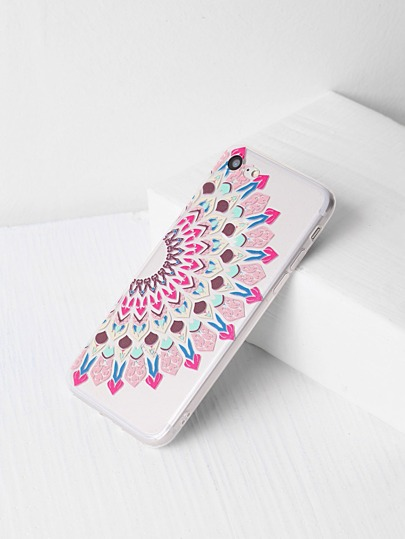 Tribal Print Clear iPhone 7 Case