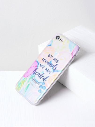 Cover per iphone 7 con stampa di lettera