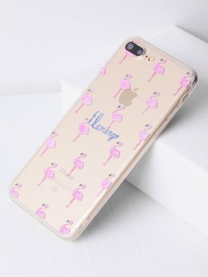 Flamingo Étui transparent pour iPhone 7 Plus