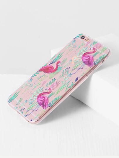 Flamingo modello trasparente iPhone 6 Plus / 6S più l'argomento
