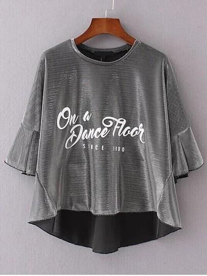 T-shirt à manches courtes imprimé