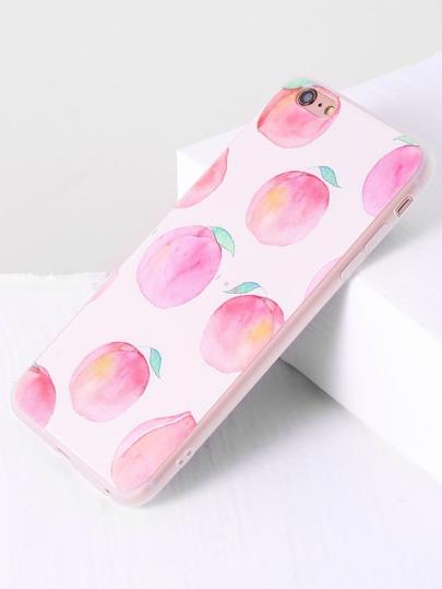 Pink Peach Print iPhone 6plus/6s Plus Case