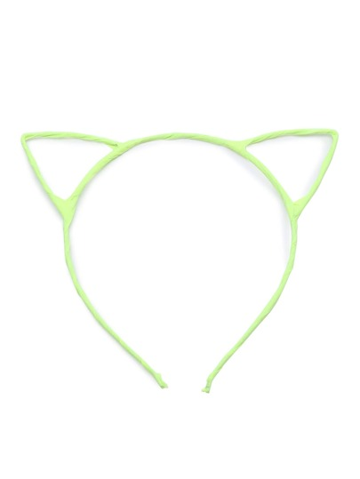 Neon Yellow Cute Cat Ears Hair Band