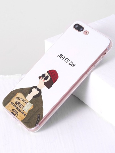 White Girl Print Cute iPhone 7 Plus Case
