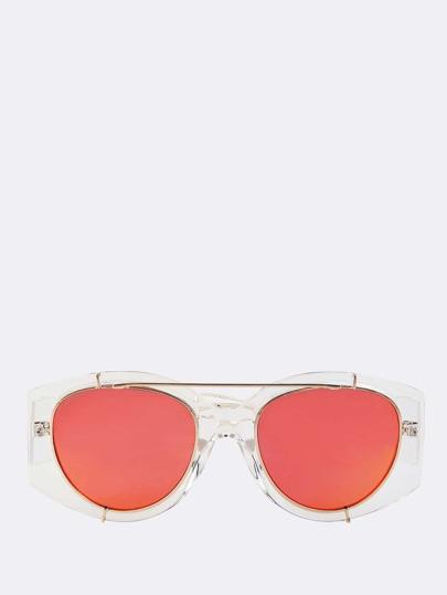 Clear Mirrored Sunglasses TOPAZ