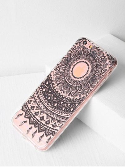 Tribal Pattern Clear iPhone 6 Plus / 6s Plus Fall