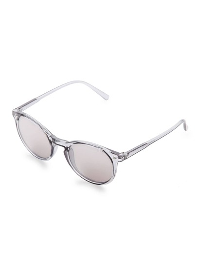 Sliver Frame Grey Lens Sunglasses
