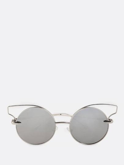 Circle Cat Rim Sunglasses GREY