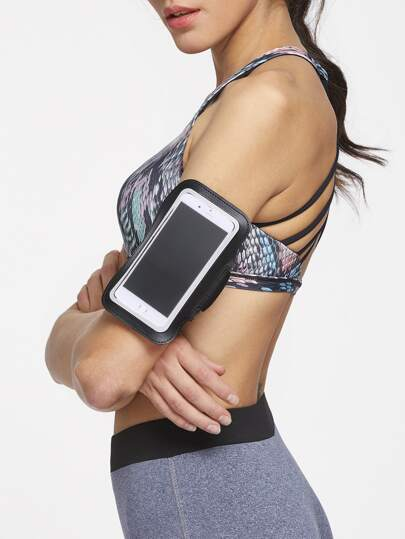 Black 5.5 Inch Mobile Phone Arm Belt