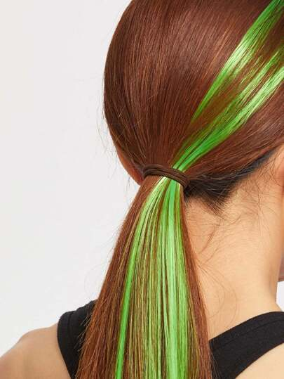 Green Straight Hair Piece