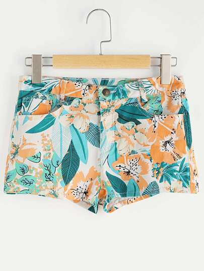 Floral Loose Beach Shorts
