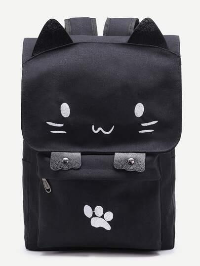 Модный холщовый рюкзак в форме кошки