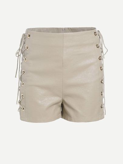Shorts de ojete con cordón lateral de cintura alta