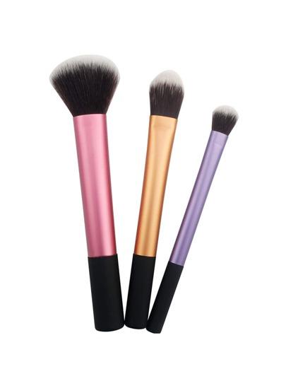 Ensemble de brosse de maquillage color-block