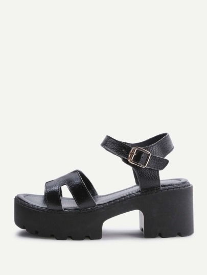 Sandales PU Wedge