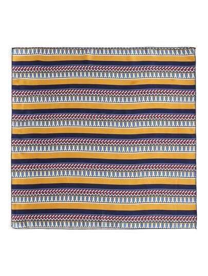 Geometric Striped Print Bandana