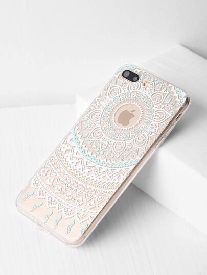 Cassa del fiore design chiaro iPhone 7 Plus