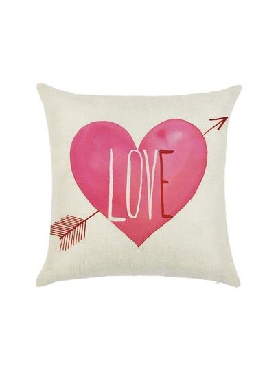 Heart And Arrow Print Pillowcase Cover