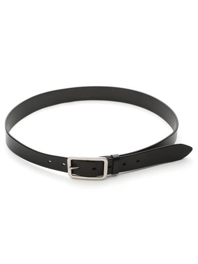 Cinturón de cuero sintético con hebilla de metal
