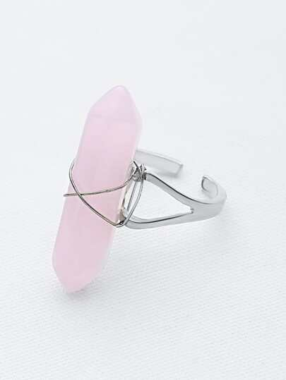 Hexagonal Crystal Cuff Ring