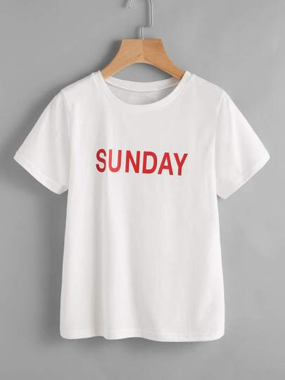 Sunday Print Tee