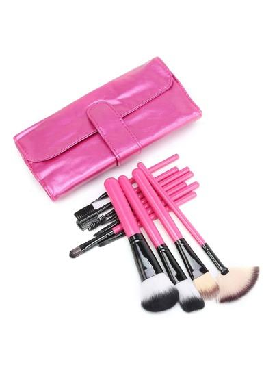 Pinceau de maquillage professionnel avec sac
