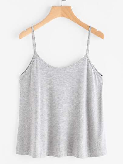 Heathered Billowy Jersey Cami Top