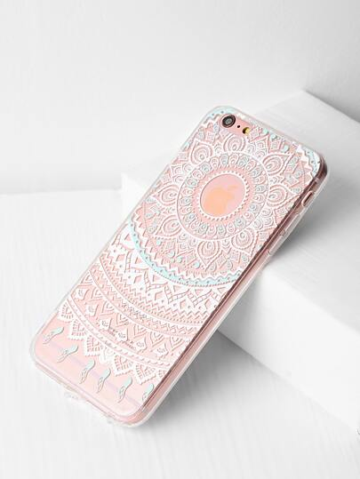 Flower Design Clear iPhone 6 Plus/6s Plus