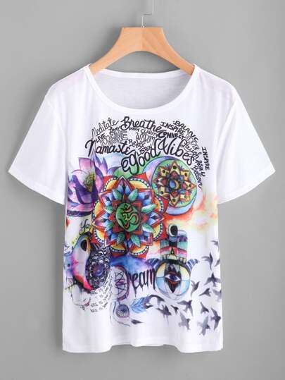 T-Shirt mit Grafikmuster